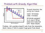 problem with greedy algorithm