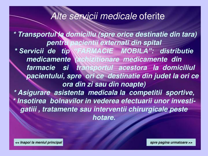 Alte servicii medicale