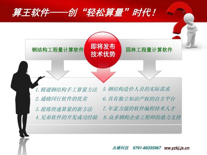 """算王软件——创""""轻松算量""""时代!"""
