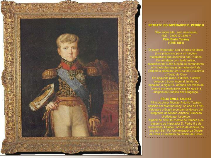 RETRATO DO IMPERADOR D. PEDRO II