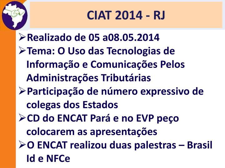 CIAT 2014 - RJ
