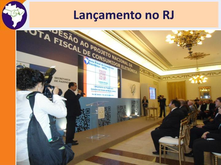 Lançamento no RJ