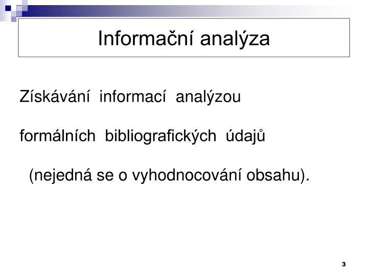 Informační analýza