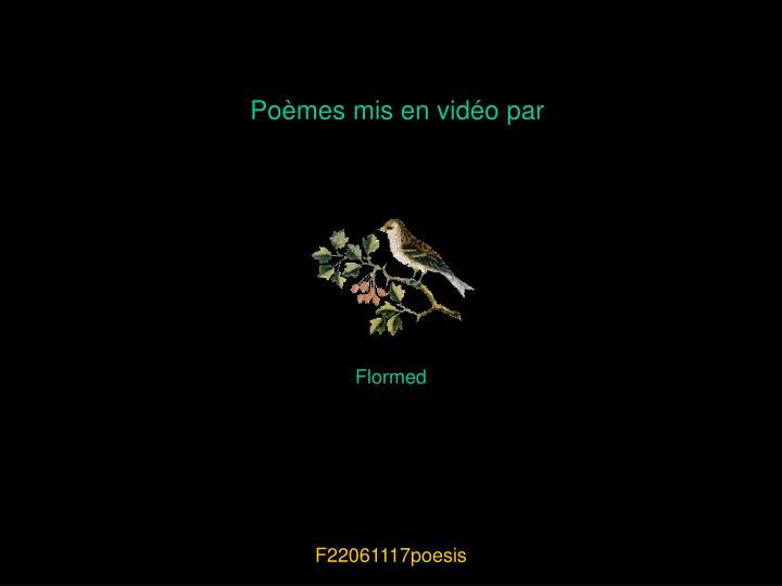 Poèmes mis en vidéo par