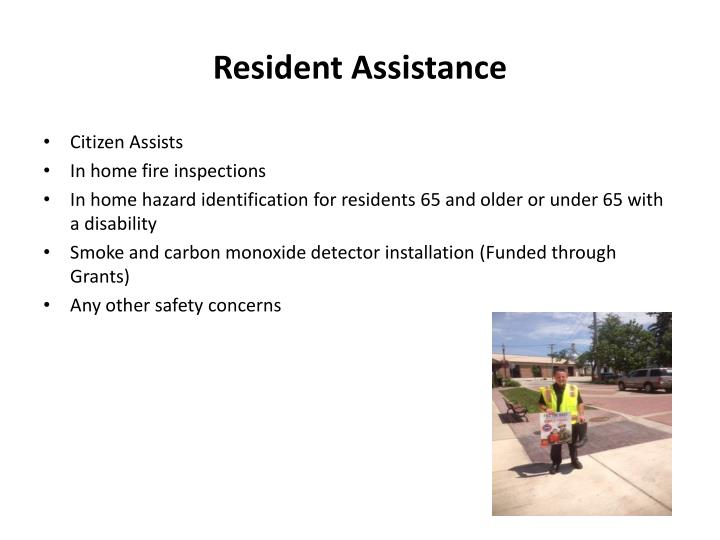 Resident Assistance