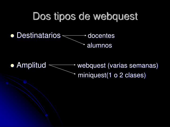 Dos tipos de webquest