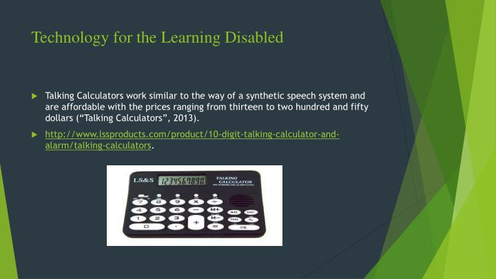 Technology for the Learning Disabled