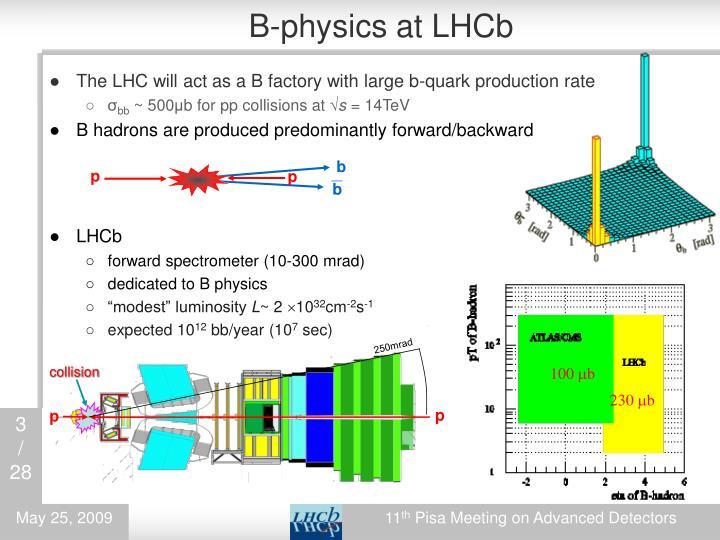 B-physics at LHCb