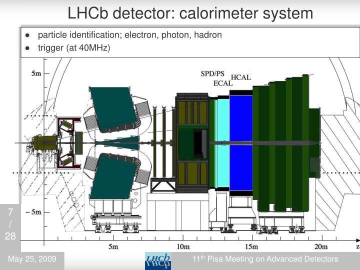 LHCb detector: calorimeter system