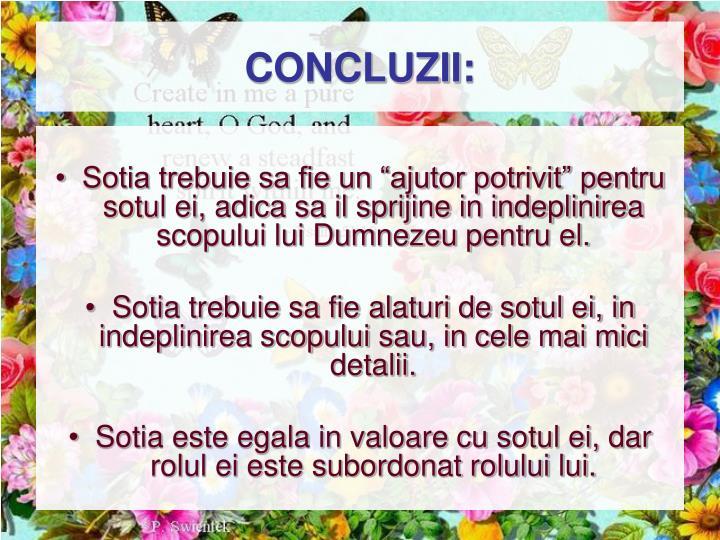 CONCLUZII: