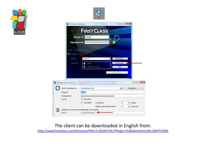The client can be downloaded in English from:
