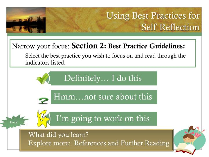 Using Best Practices for