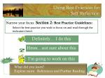 using best practices for self reflection1