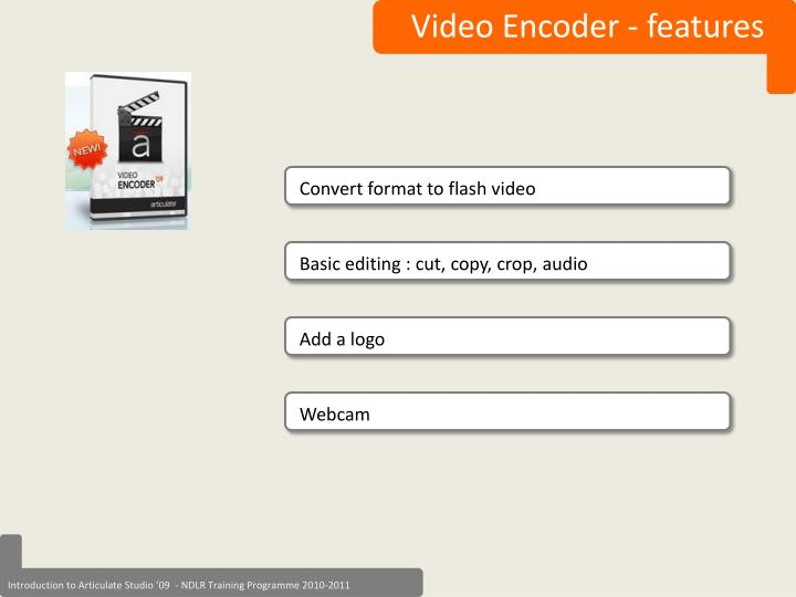 Video Encoder - features