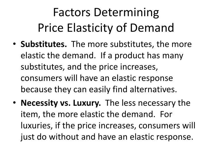 Factors Determining