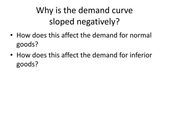 Why is the demand curve