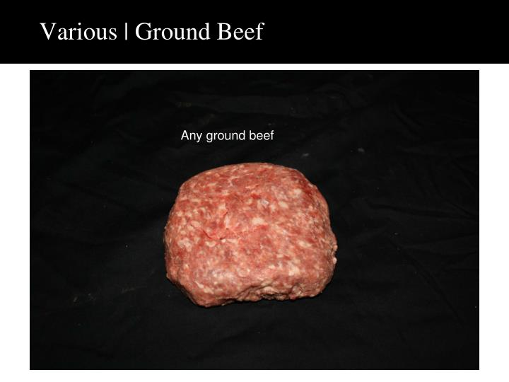 Various | Ground Beef