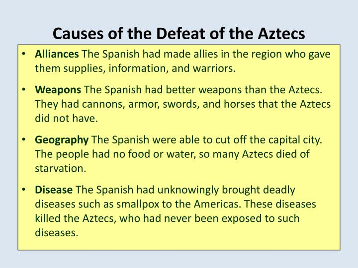 Causes of the Defeat of the Aztecs