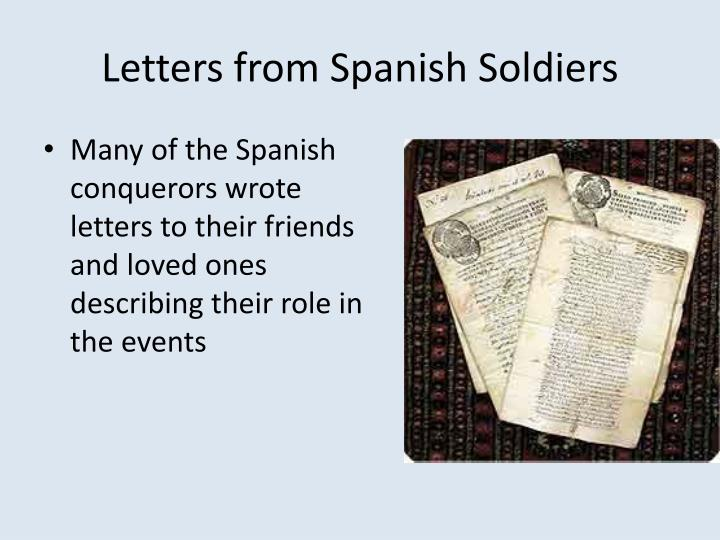 Letters from Spanish Soldiers