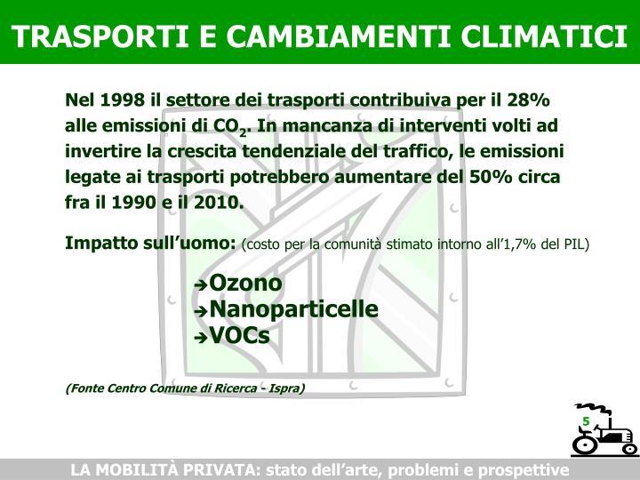 TRASPORTI E CAMBIAMENTI CLIMATICI