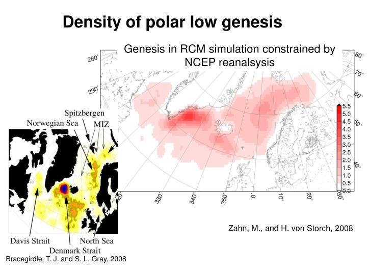 Density of polar low genesis