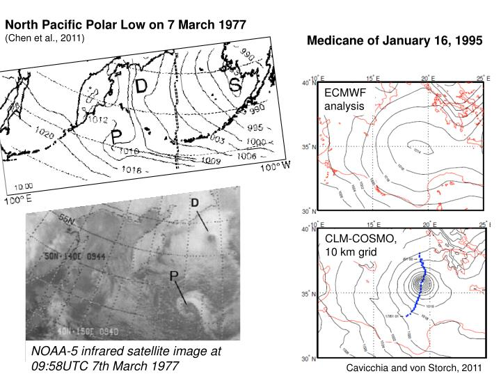 North Pacific Polar Low on 7 March 1977