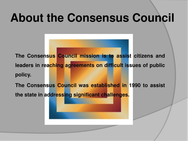 About the Consensus Council