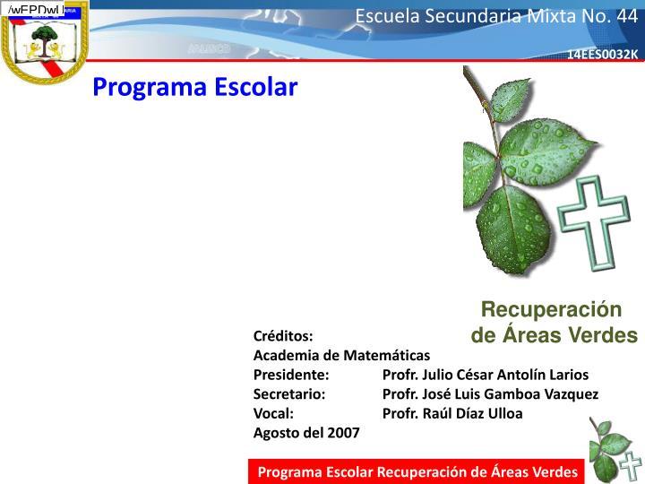 Programa Escolar