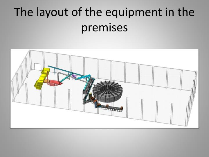 The layout of the equipment in the premises