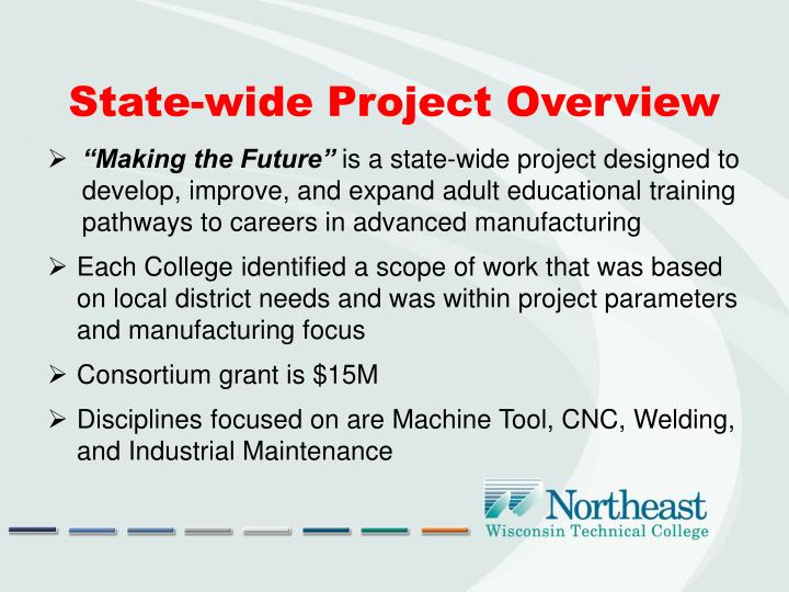State-wide Project Overview