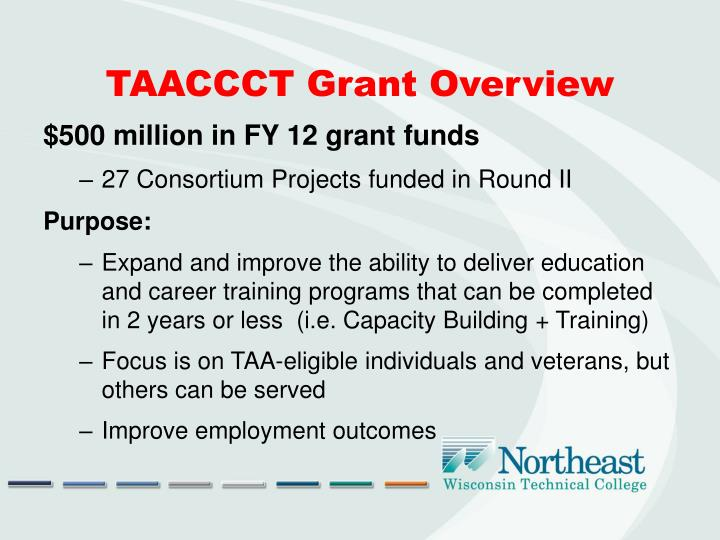 TAACCCT Grant Overview