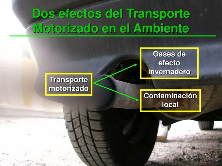 Dos efectos del Transporte Motorizado en el Ambiente