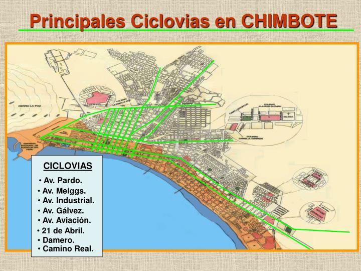Principales Ciclovias en CHIMBOTE
