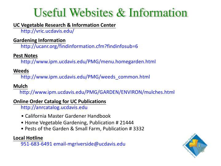 Useful Websites & Information