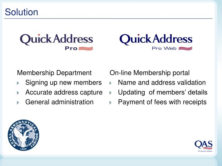 On-line Membership portal