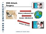 dns attack forgery