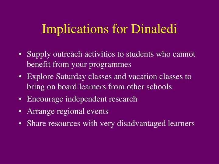 Implications for Dinaledi