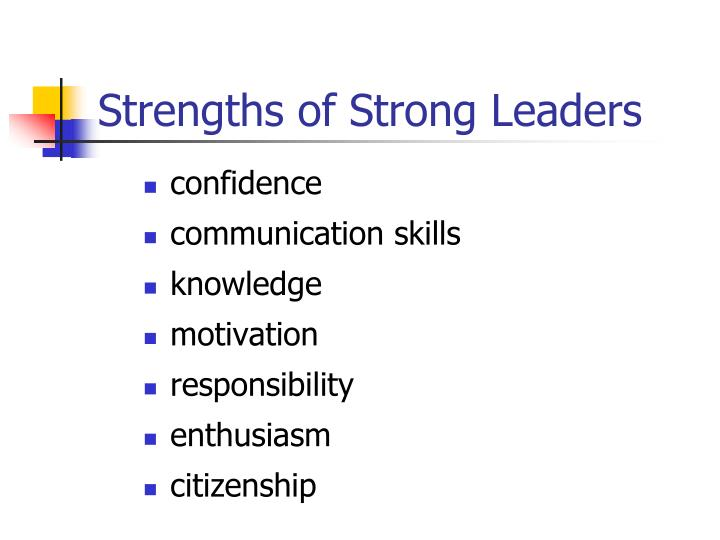 Strengths of Strong Leaders