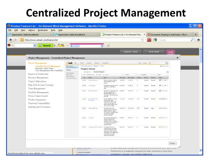 Centralized Project Management