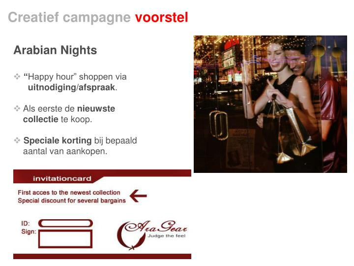 Creatief campagne