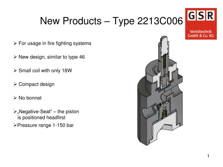 new products type 2213c006