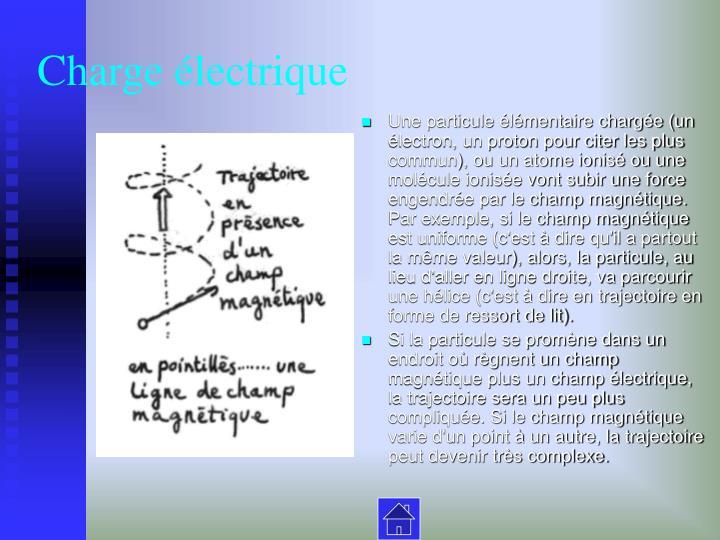 Charge électrique