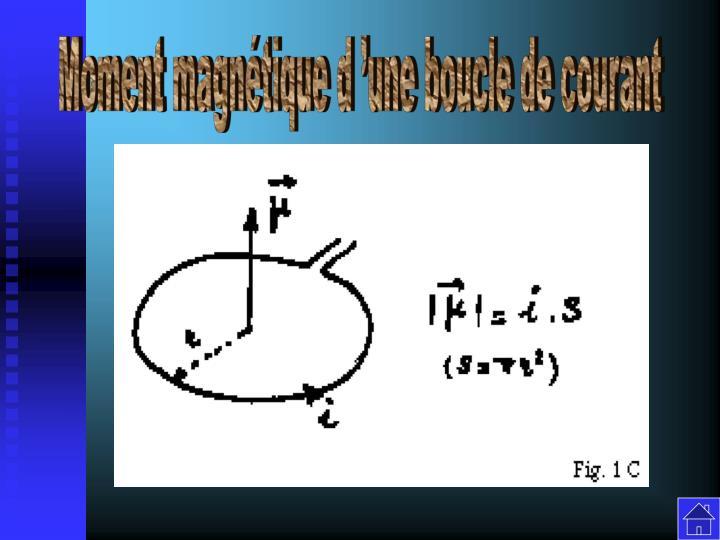 Moment magnétique d'une boucle de courant