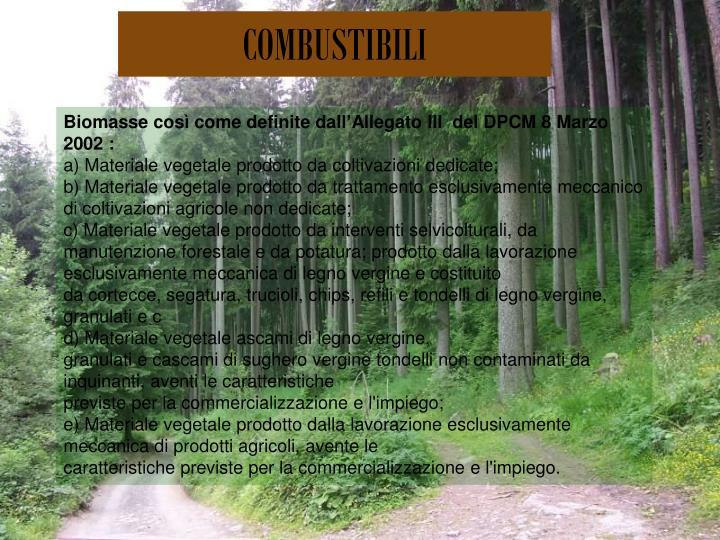 COMBUSTIBILI