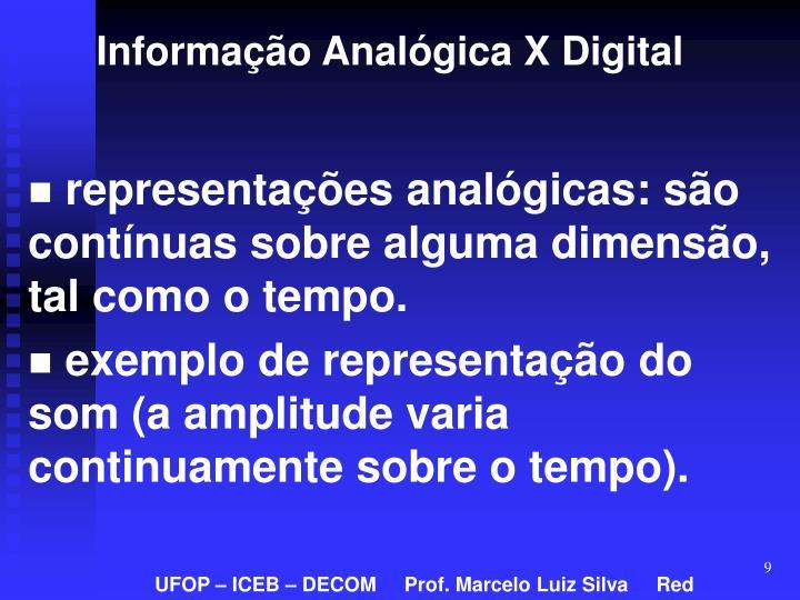Informação Analógica X Digital