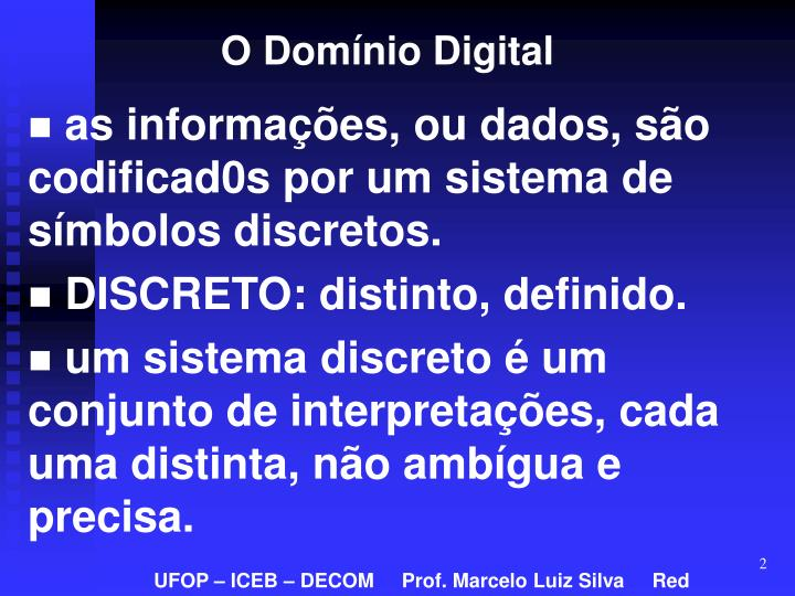 O Domínio Digital