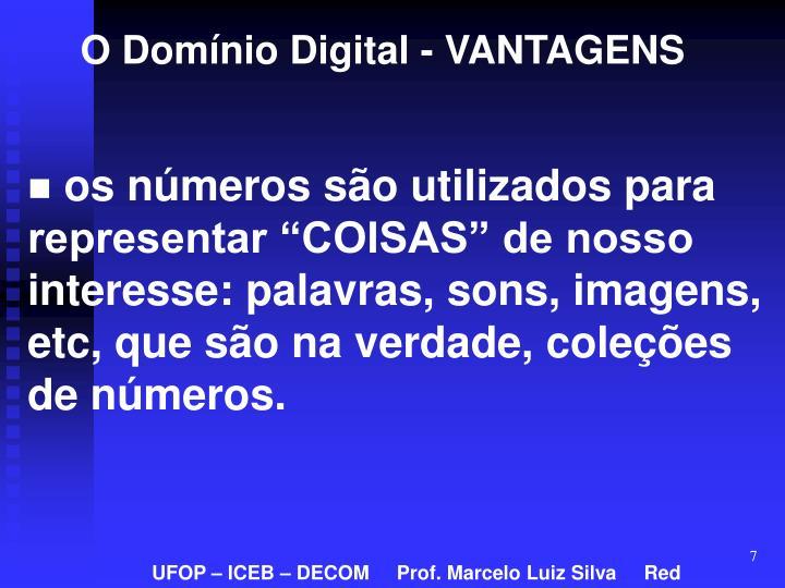 O Domínio Digital - VANTAGENS