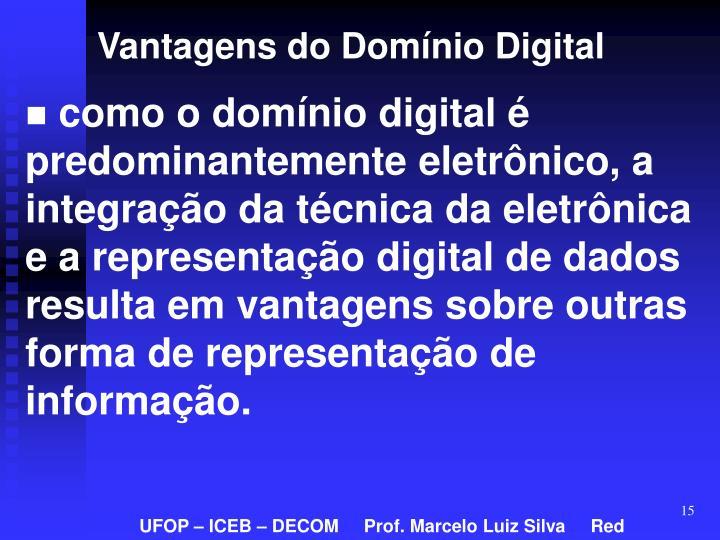 Vantagens do Domínio Digital