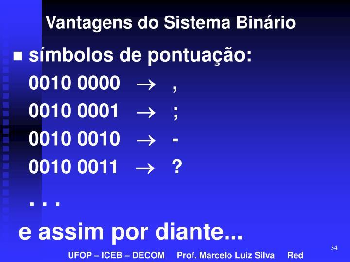 Vantagens do Sistema Binário
