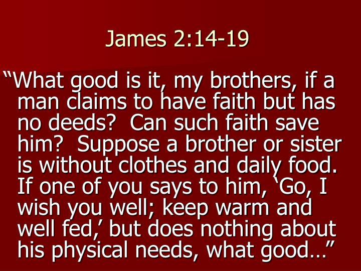 James 2:14-19